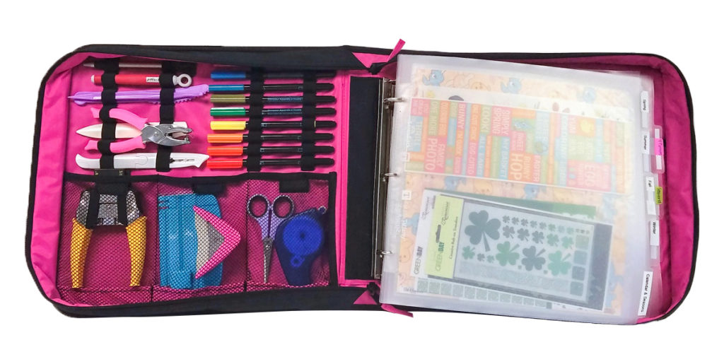 How to organize scrapbooking supplies, with Totally-Tiffany.