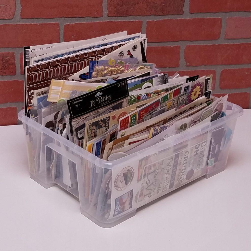 Organize Stickers in a ScrapRack not a tub