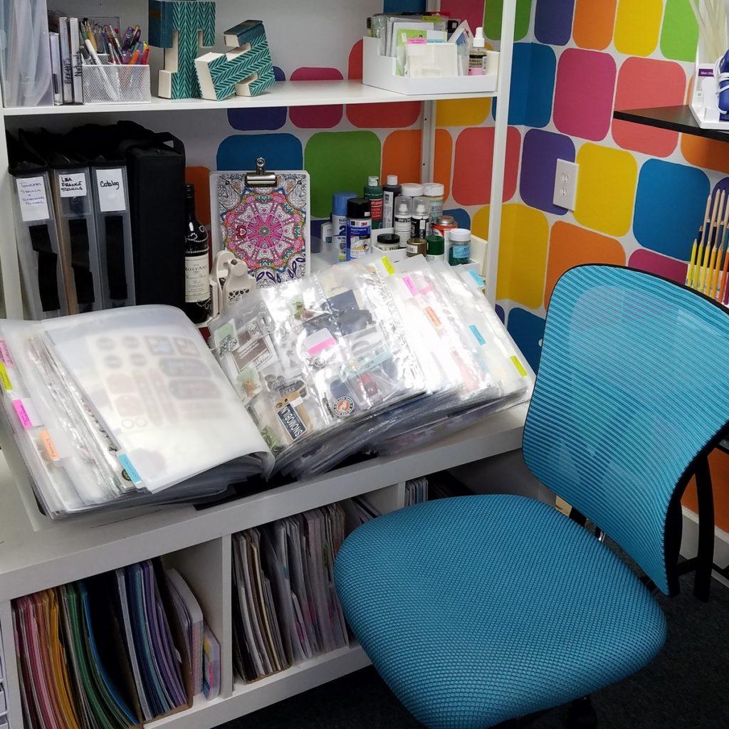 Organize Scrapbooking supplies in a ScrapRack.