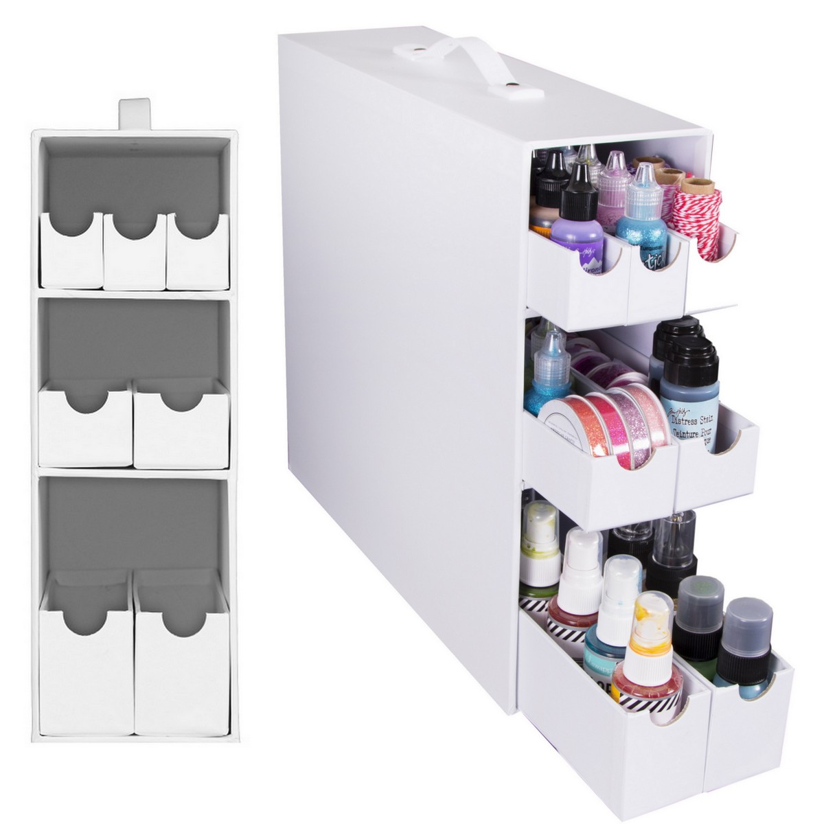7 drawer organizer - perfect for IKEA Kallax or Expedit