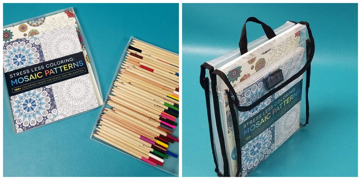 Travel with your adult coloring supplies.