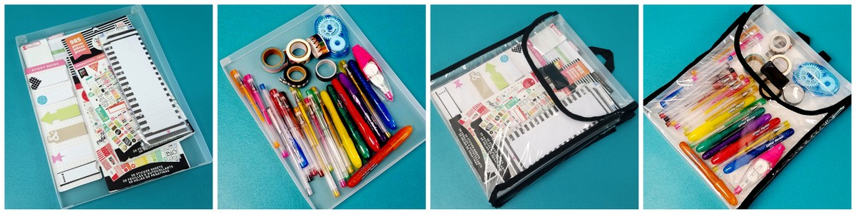 Portable, travel planner supplies