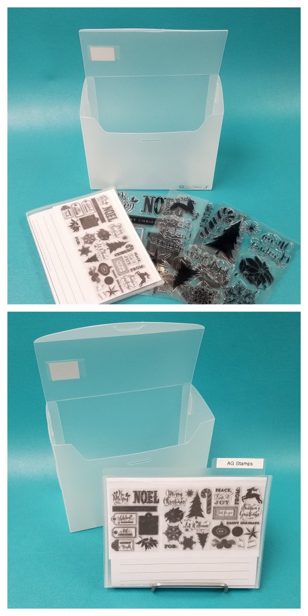 5x7 Fab File is perfect acrylic stamp organizer.