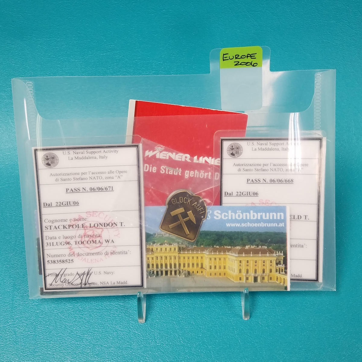 Label memento storage with small SYF tabs