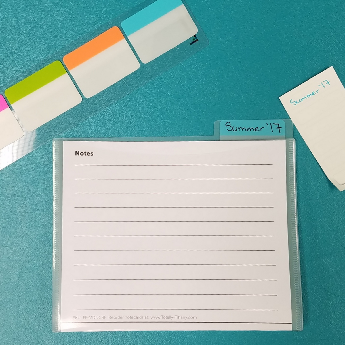 Label files with removable tabs.
