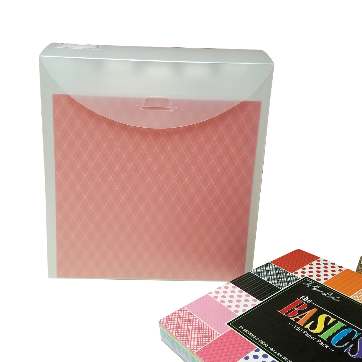 Organize and store 8x8 scrapbooking paper and cardstock. EXE-FF