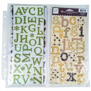 Vertical Double, ScrapRack Page for sticker storage HSN