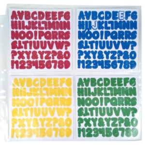 Organize stickers, alphabets in the ScrapRack 4 Section system. HSN
