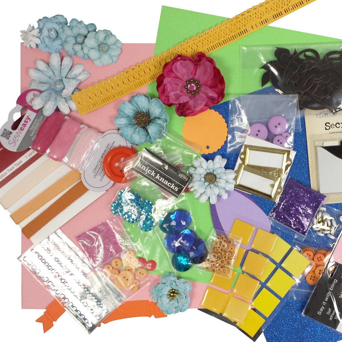 Organize scrapbooking supplies by color. Totally-Tiffany