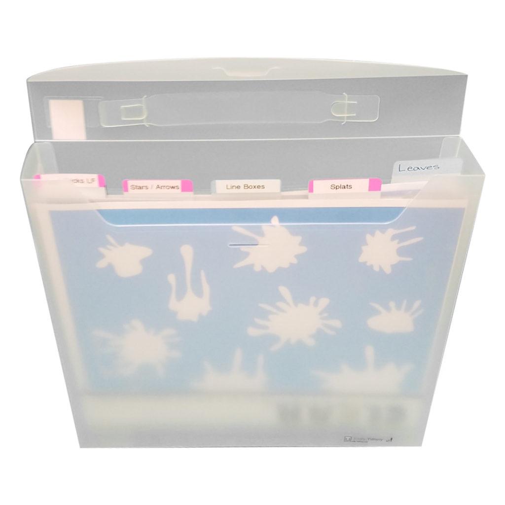 12x12 Stencil Organizer, Storage for craft supplies