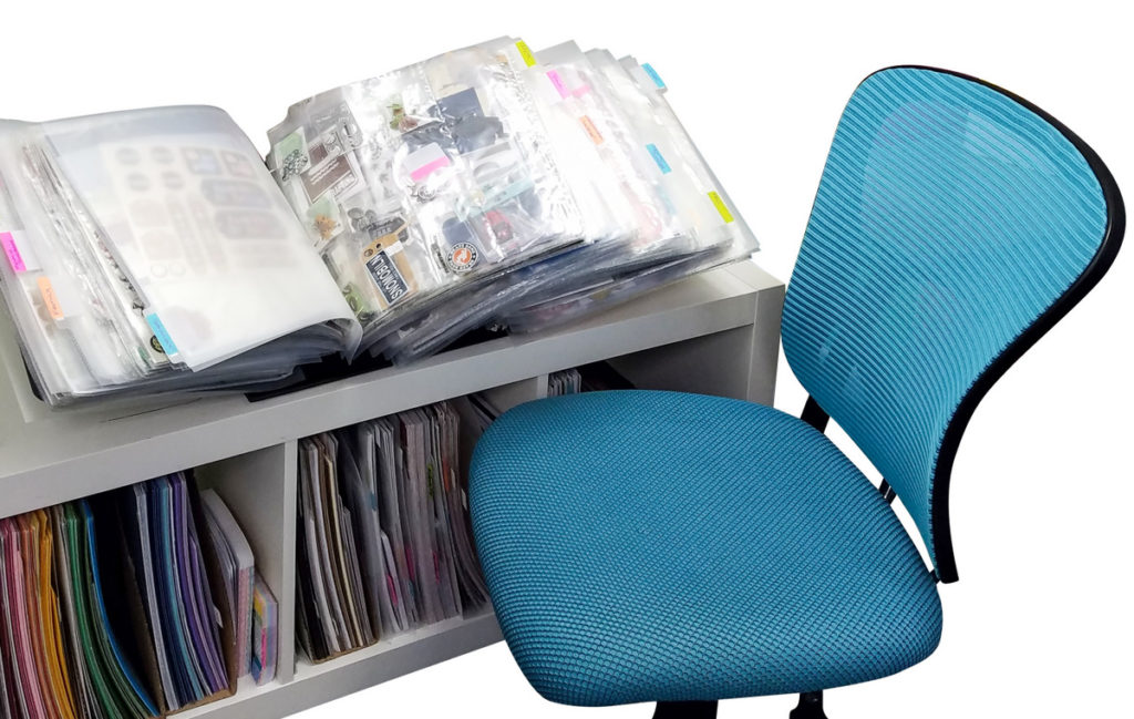 Organize you paper crafting supplies in a ScrapRack for easy access. B11 Totally-Tiffany