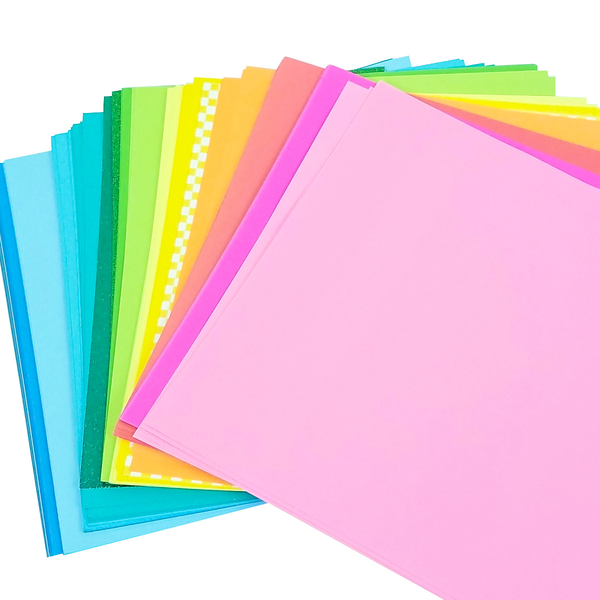 Rainbow section paper pile