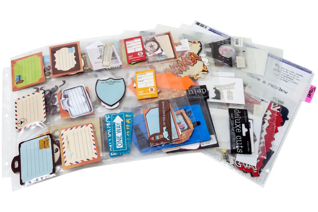 How to organize scrapbooking supplies by theme. Totally-Tiffany.com