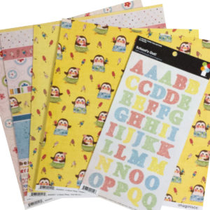 Organize alphabet stickers by collection first.