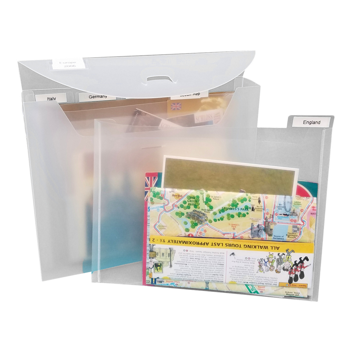 Organize mementos from a family vacation, Totally-Tiffany Fab File.