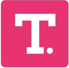 T Totally-Tiffany Logo, Pink Block ini