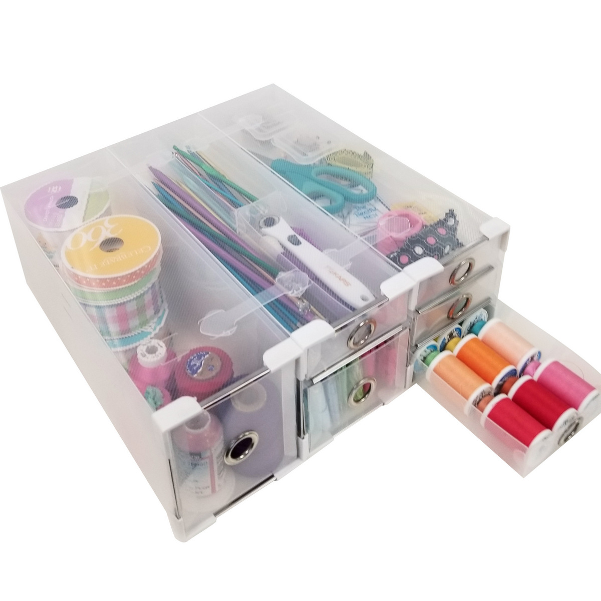 Organize sewing thread, zippers, Totally-Tiffany organizer