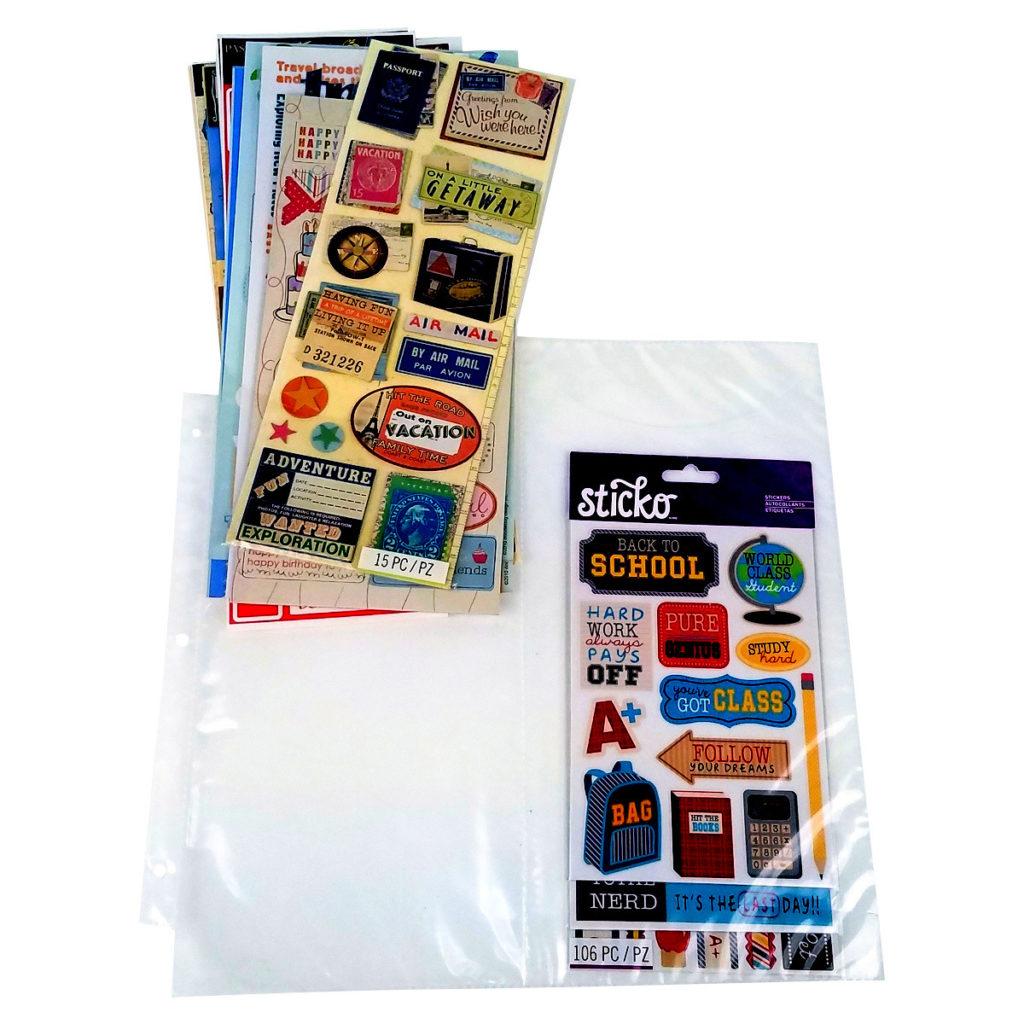 Double-pocket, 6x12, Sticker Storage, ScrapRack, Totally-Tiffany P80