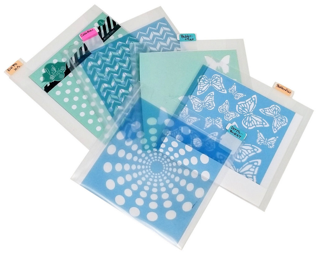 Organize stencils - Totally-Tiffany, 6x6 pockets