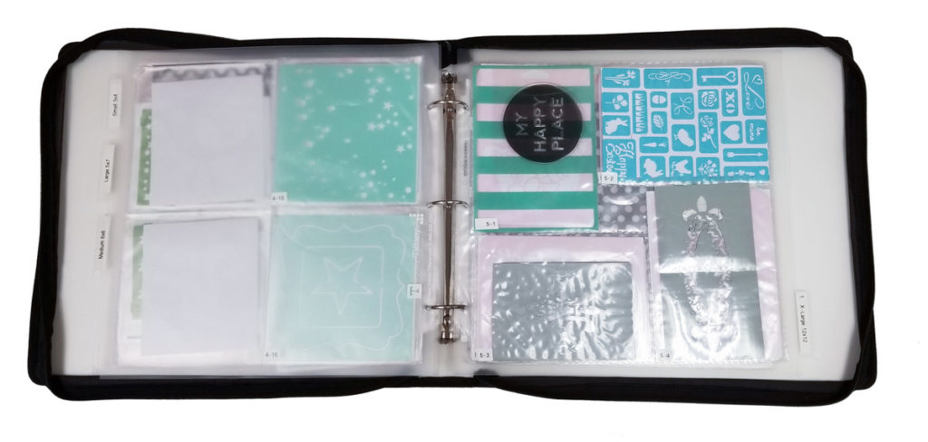 How to organize stencils in a binder with Totally-Tiffany 12x12 pocket pages