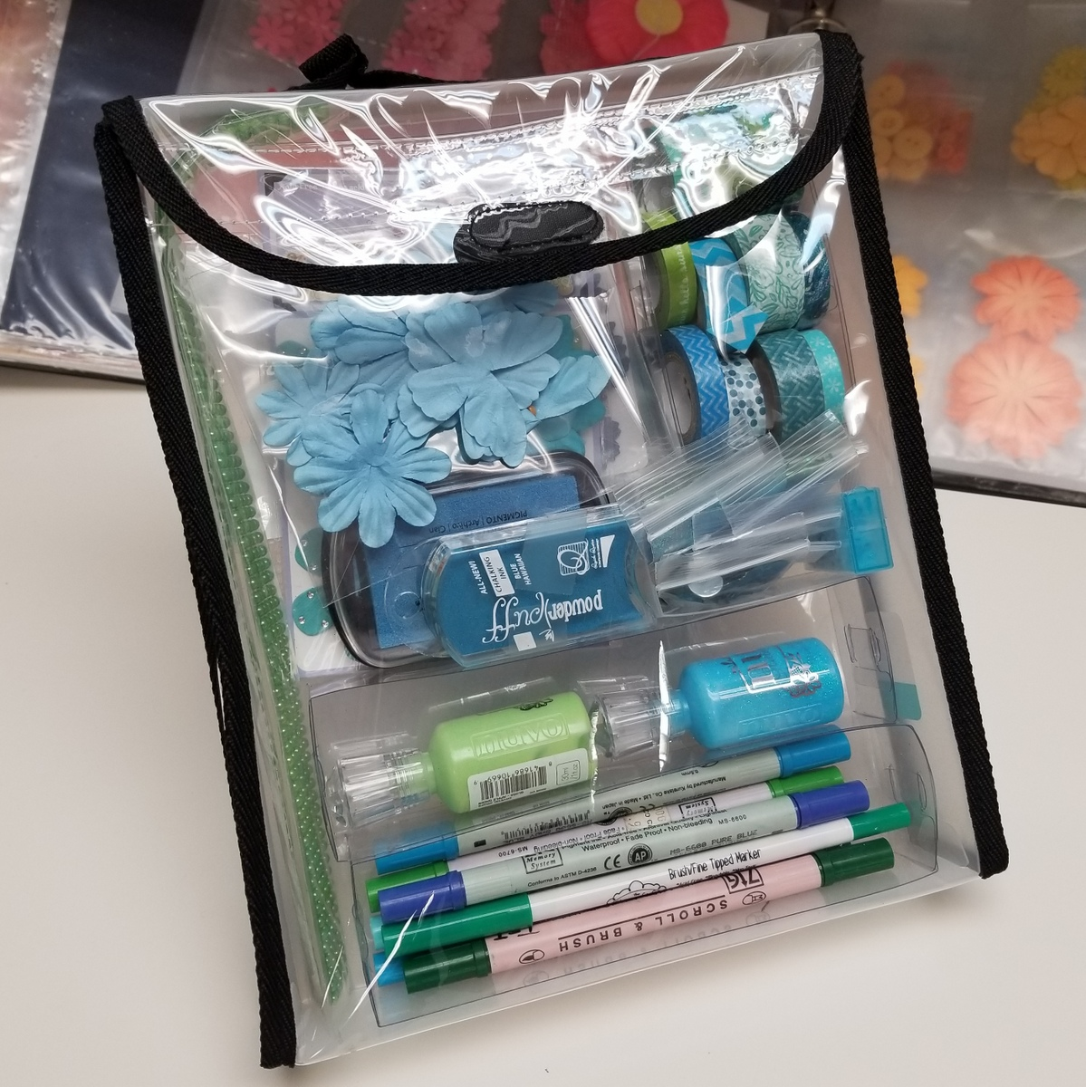 "Organize supplies by color, 2"" Punch Pack Totally-tiffany"