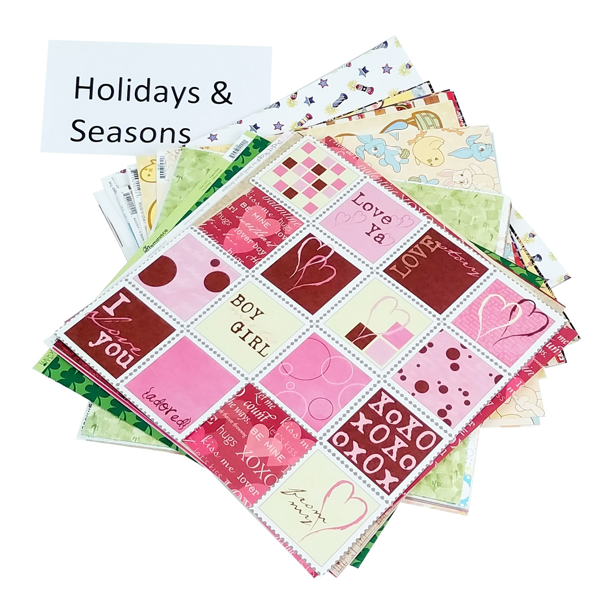 Holiday and seasons, calendar year pile of paper Totally-Tiffany