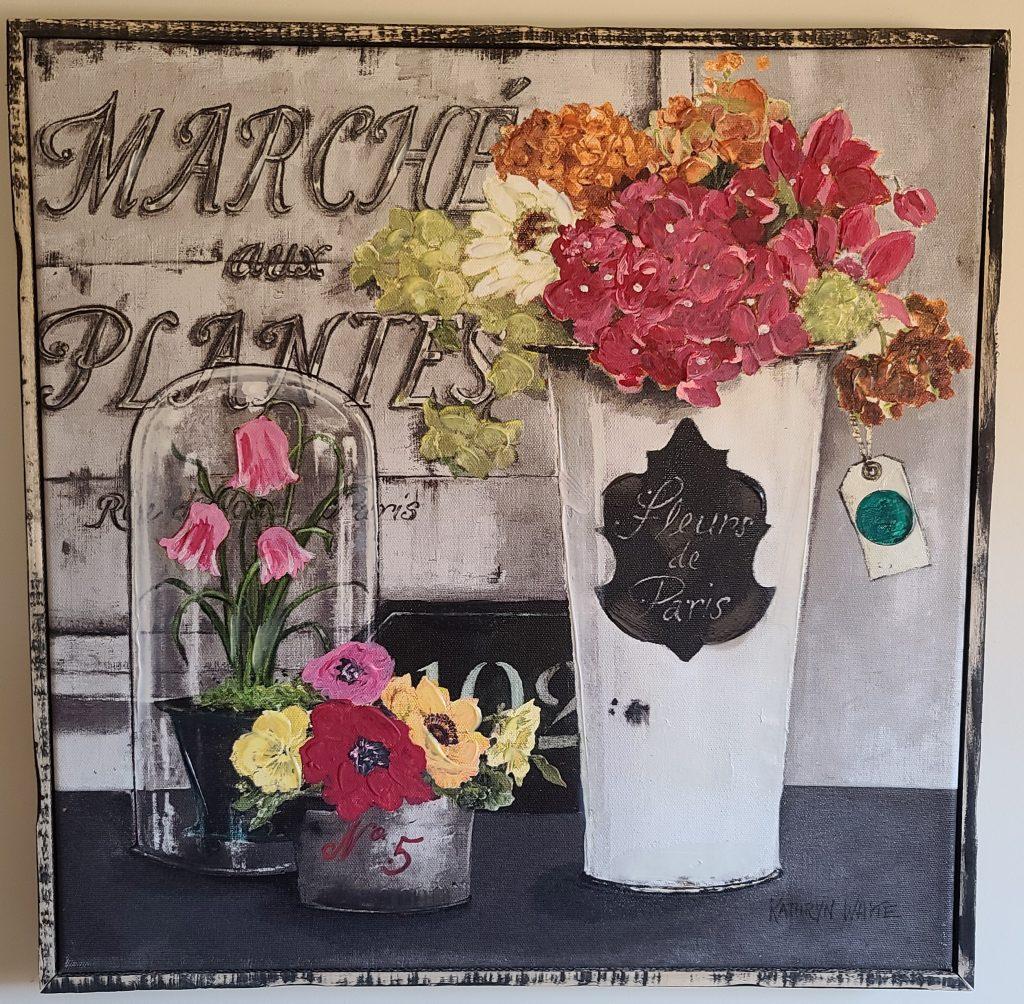 flower painting artwork