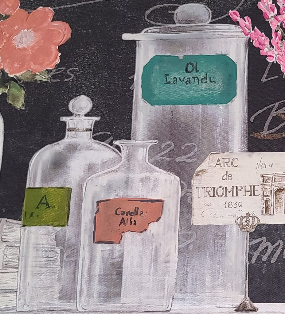 updated painting of bottles and vases