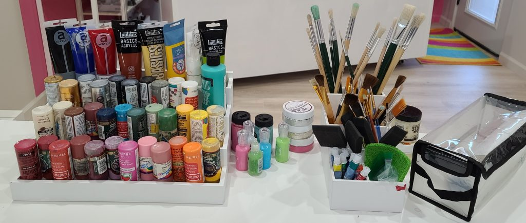 painting supplies for creating custom home decor