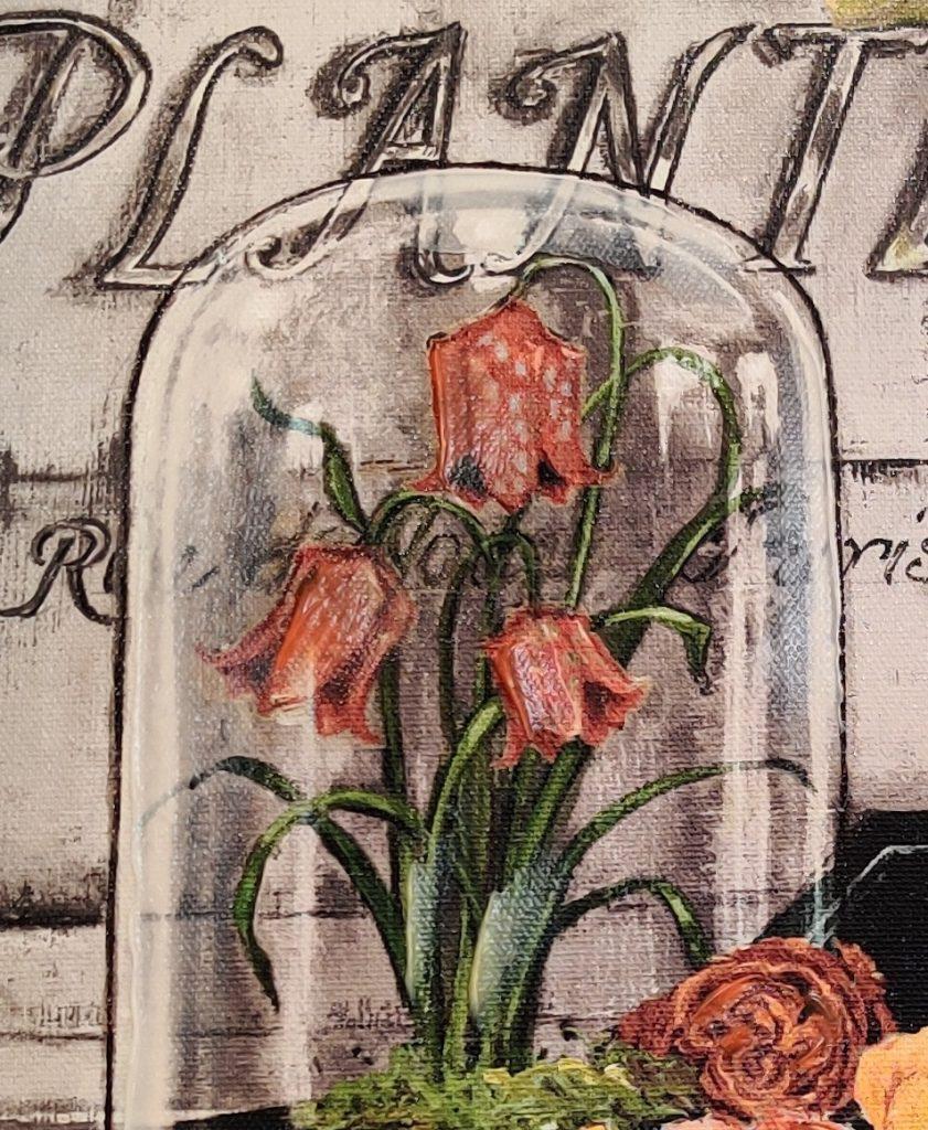 flower canvas artwork