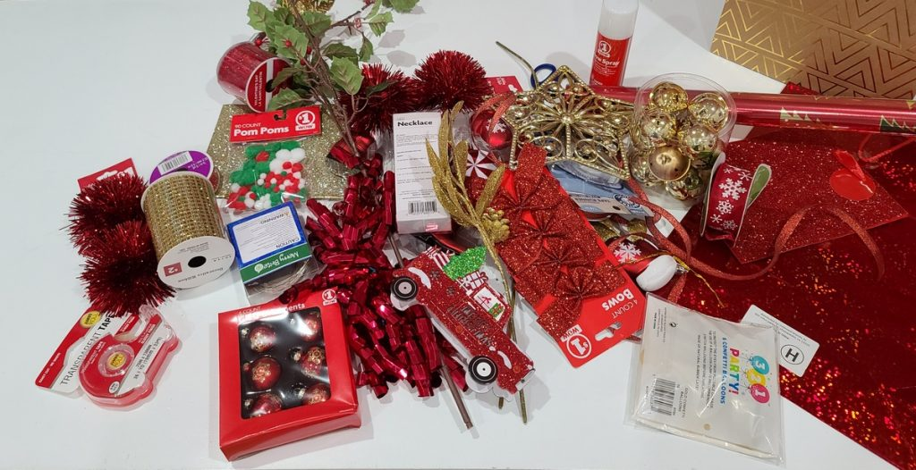 dollar store items for wrapping gifts